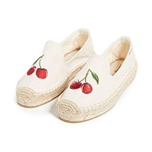 NEW Soludos Cherries Smoking Slippers
